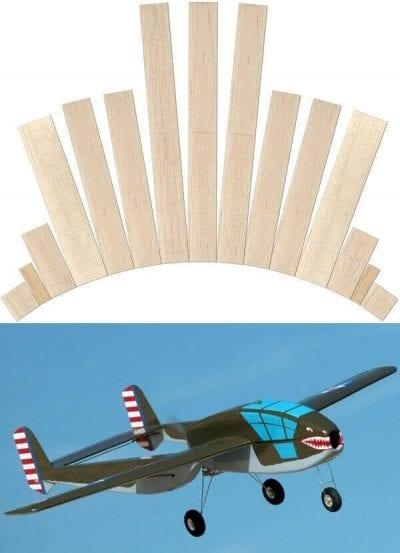 Bell XP-59 'Belle' - Laser cut wood pack